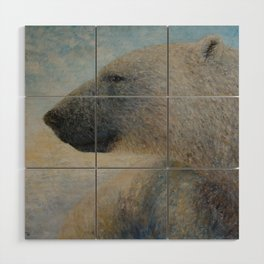 Polar Bear Wood Wall Art