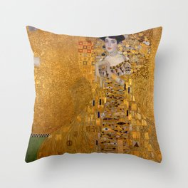 The Woman in Gold Throw Pillow