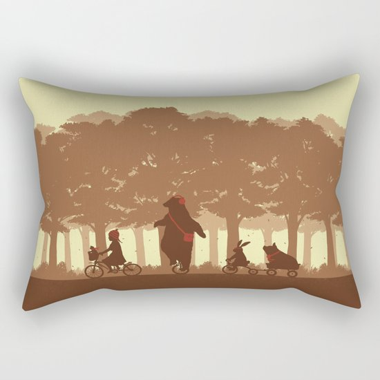Biking with Friends Rectangular Pillow