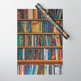 Bookshelf Books Library Bookworm Reading Pattern Wrapping Paper