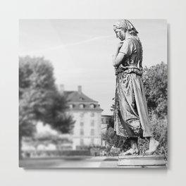 statue in grey  Metal Print