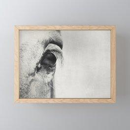 HorSe (V2 grey) Framed Mini Art Print