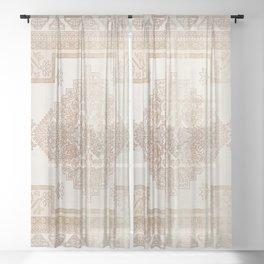 turkish floral - warmer neutrals Sheer Curtain