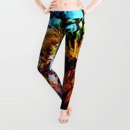 Colorful Underwater Plants Leggings