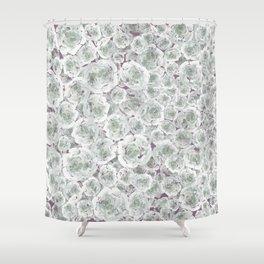 Rose rush Plum Shower Curtain