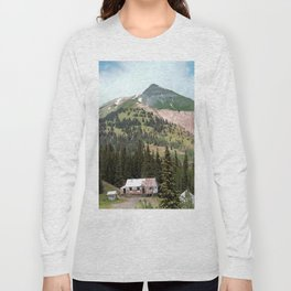 Country Schoolhouse at the Gold Rush Idarado Mine Long Sleeve T-shirt