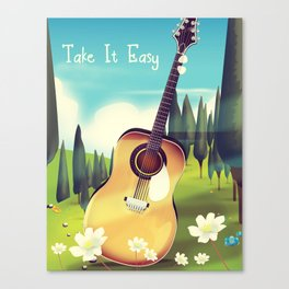 Take it Easy guitar poster. Canvas Print