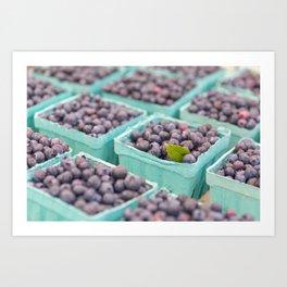 Blueberries at the market Art Print