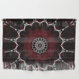 Deep Ruby Red Mandala Design Wall Hanging