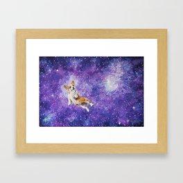 Space Corgi Framed Art Print
