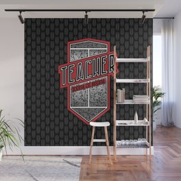 Teacher Shield Wall Mural