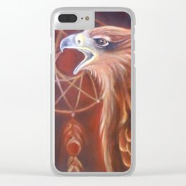 Red Tail Hawk Clear iPhone Case