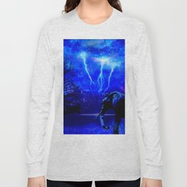 ELEPHANT LIGHTNING AND AFRICAN NIGHTS Long Sleeve T-shirt