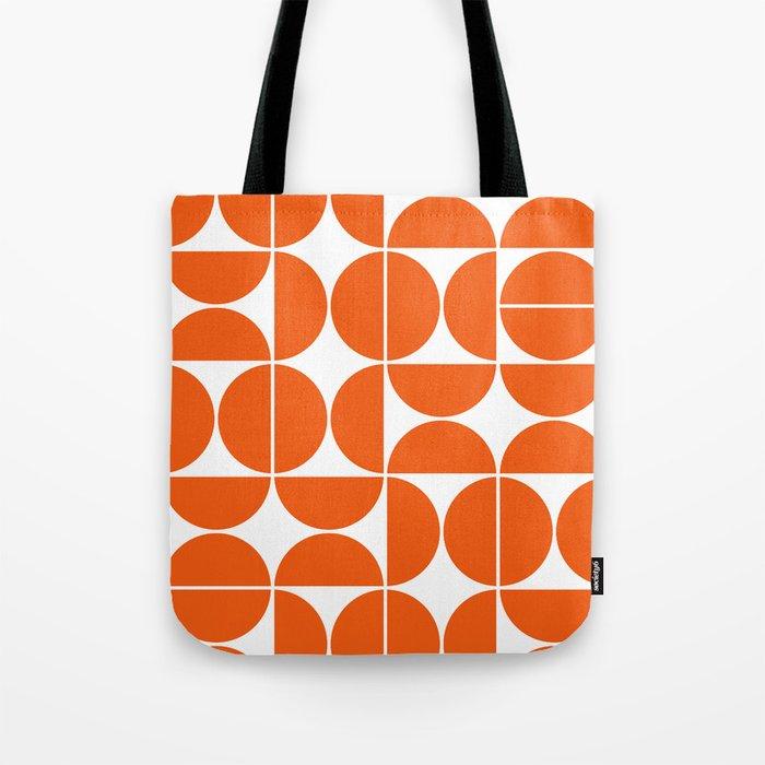 Mid Century Modern Geometric 04 Orange Tote Bag