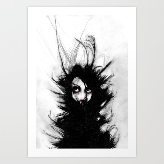 Coiling and Wrestling. Dreaming of You Art Print