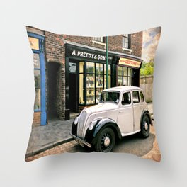 Bygone Years Throw Pillow