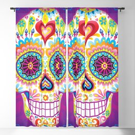 Sugar Skull Art (Luminesce) Blackout Curtain