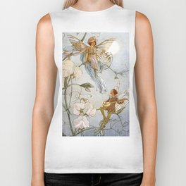 """Fairies Mid Sweet Peas"" by Margaret Tarrant Biker Tank"