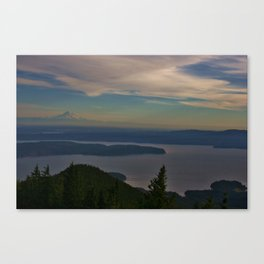 Mount Rainier and the Puget Sound Canvas Print