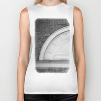 theatre Biker Tanks featuring Theatre in a Wall by cinema4design