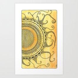 Zingdoodle Sun Art Print