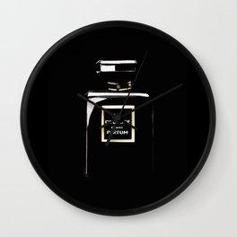 Black Parfum on black Wall Clock