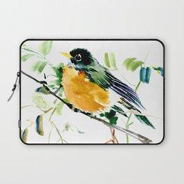American Robin bird art Laptop Sleeve