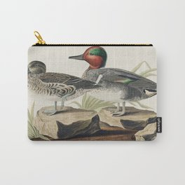 Green winged Teal from Birds of America (1827) by John James Audubon etched by William Home Lizars Carry-All Pouch