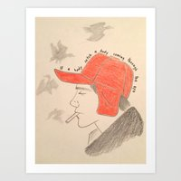 catcher in the rye Art Prints featuring Catcher In the Rye by Moira Sweeney