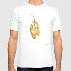 Every leaf has a story to tell Mens Fitted Tee White MEDIUM
