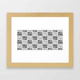 Phila / Penna Pattern Framed Art Print