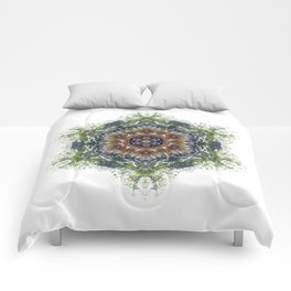 Jungle Mandala, Amazon, Peru Comforters