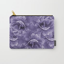 Ultra Violet Peony Flower Bouquet #1 #floral #decor #art #society6 Carry-All Pouch
