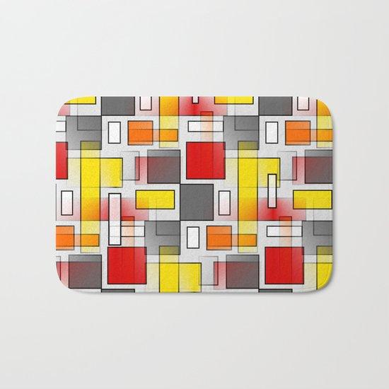 Abstract Layers Bath Mat