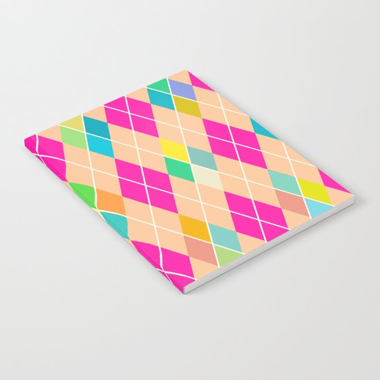 Colorful Geometric V Notebook