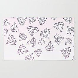 Diamond Shower - Pink Rug