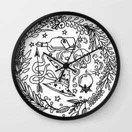 magic wreath Wall Clock