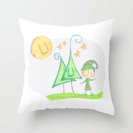 Christmas elf Throw Pillow
