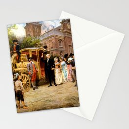 George Washington Arriving At Christ Church Stationery Cards