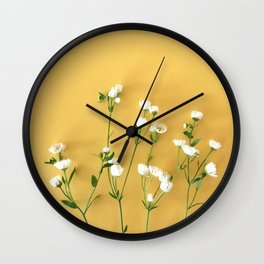 Yellow summer | Flower Photography Wall Clock