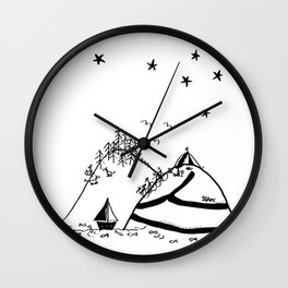 Camping in the Hills Wall Clock
