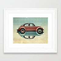 bug Framed Art Prints featuring love bug by Vin Zzep