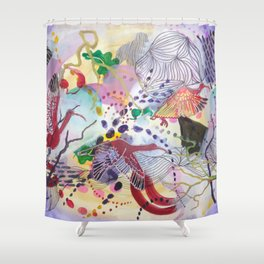 Ibis wings of freedom Shower Curtain
