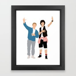 Bill and Ted Framed Art Print