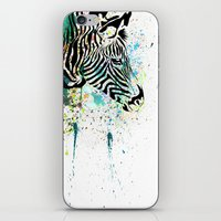zebra iPhone & iPod Skins featuring Zebra by Del Vecchio Art by Aureo Del Vecchio