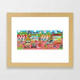 CUTE and SUCK CITY Framed Art Print