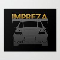 subaru Canvas Prints featuring Subaru Impreza by Vehicle