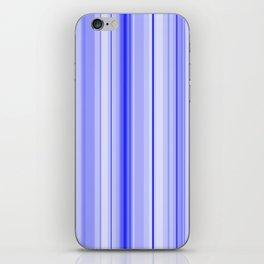 Blue Vertical Stripe iPhone Skin