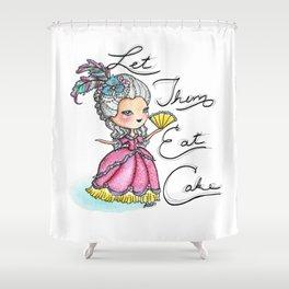 Marie Antoinette Let Them Eat Cake Shower Curtain