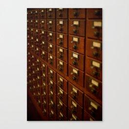 Card Catalog Canvas Print